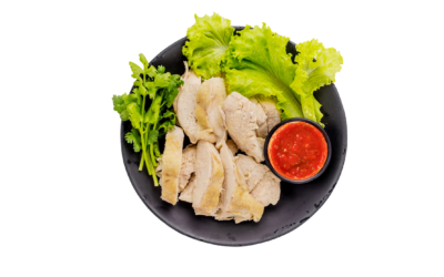 Chicken with pepper sauce. 257 kcal per portion